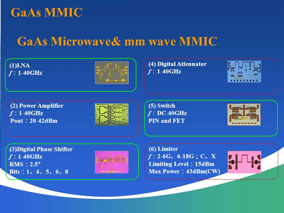 GaAs Microwave& mm wave MMIC