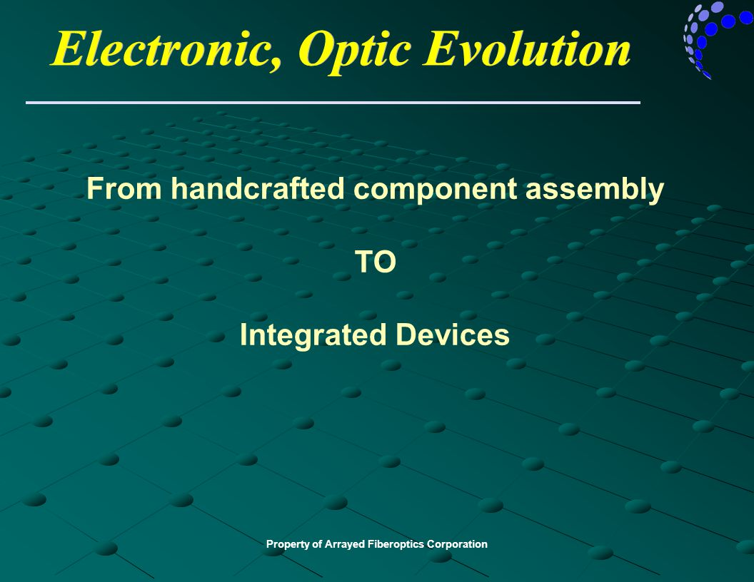 Electronic, Optic Evolution