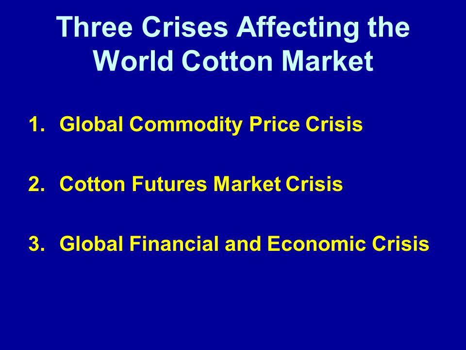 Three Crises Affecting the World Cotton Market