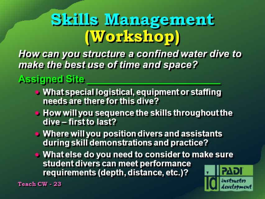 Skills Management (Workshop)