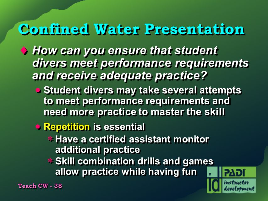 Confined Water Presentation