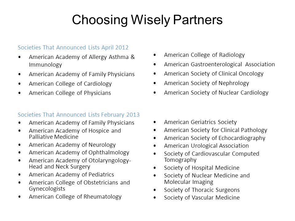 Choosing Wisely Partners