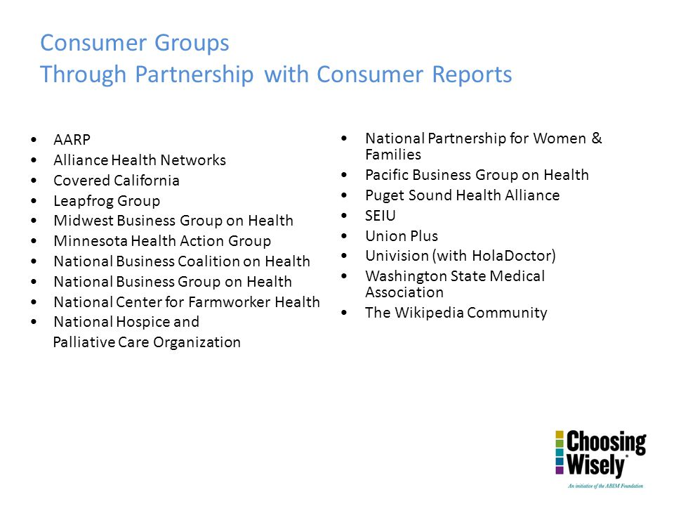 Through Partnership with Consumer Reports