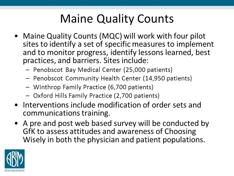 Maine Quality Counts
