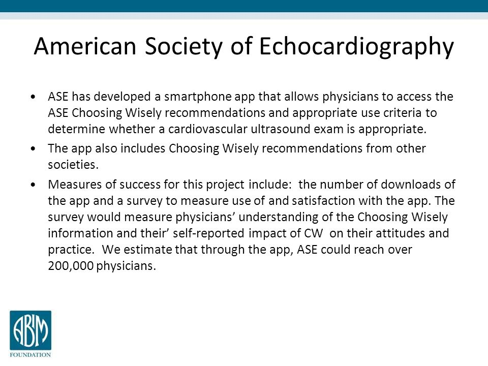 American Society of Echocardiography
