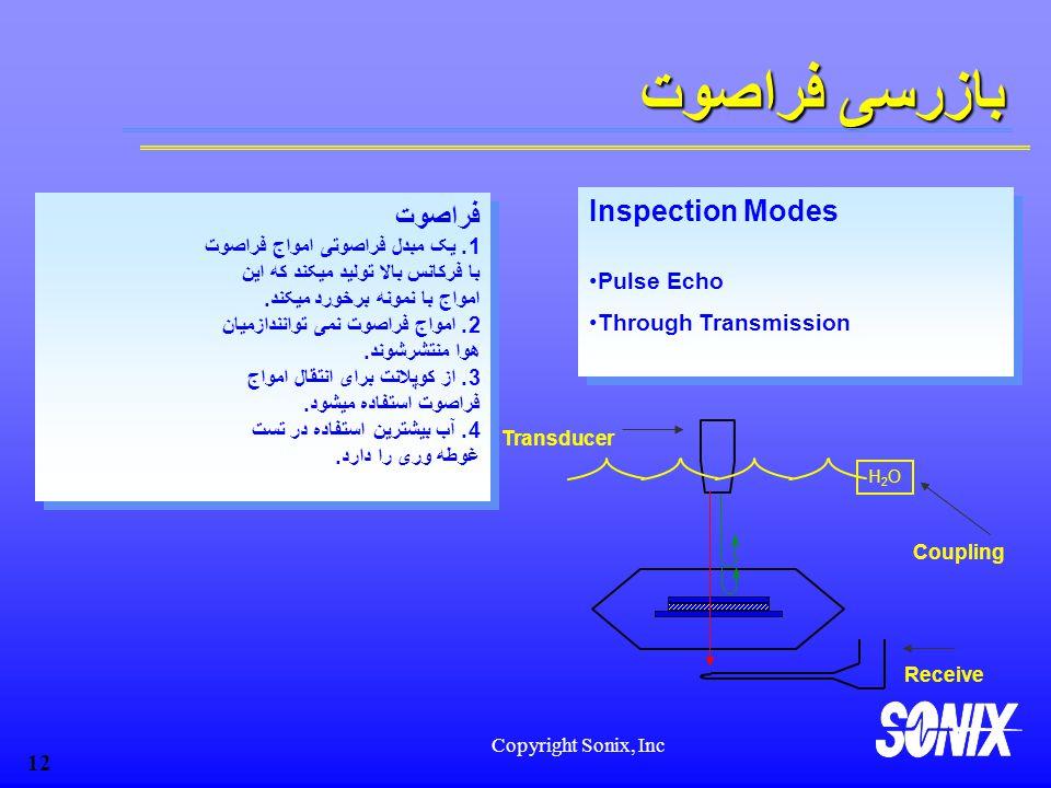 بازرسی فراصوت Inspection Modes فراصوت Pulse Echo Through Transmission
