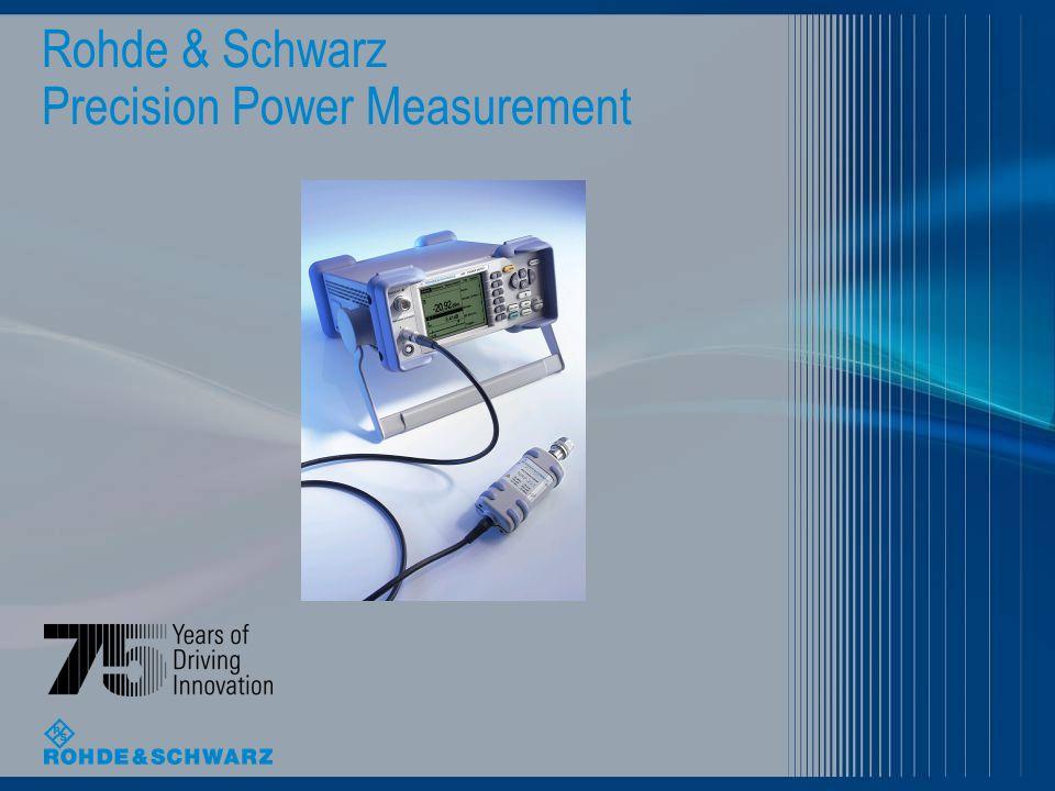 Rohde & Schwarz Precision Power Measurement