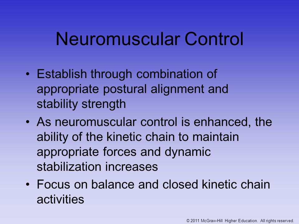 Neuromuscular Control