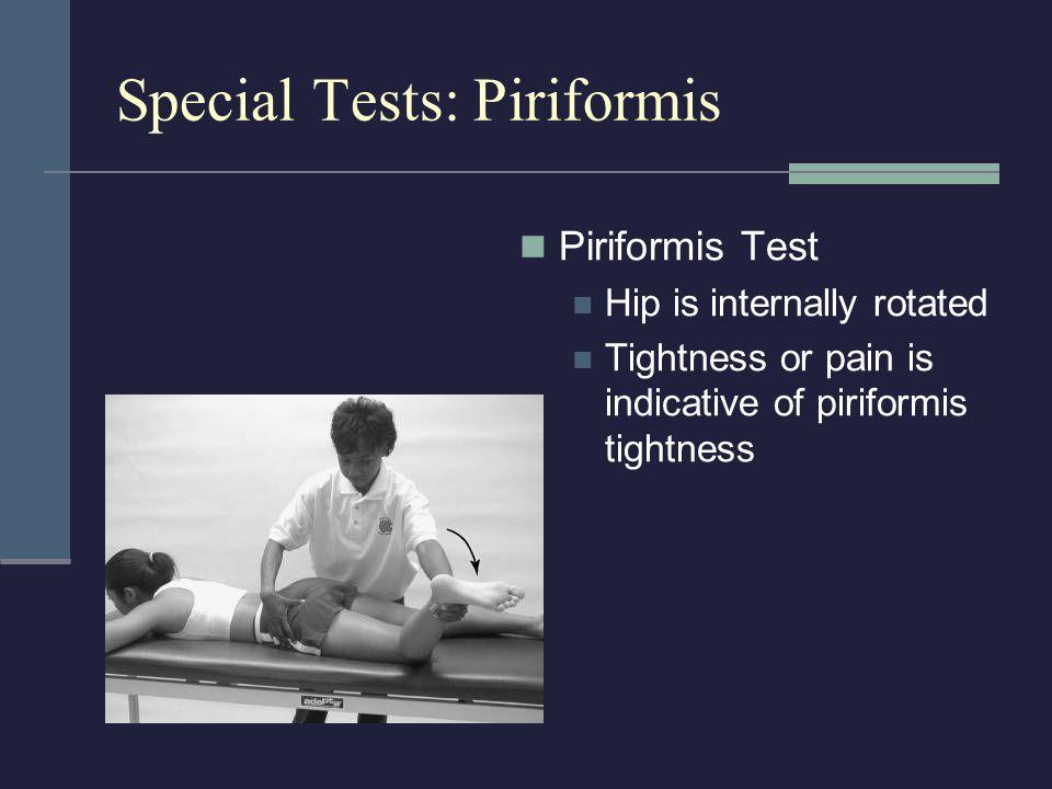 Special Tests: Piriformis