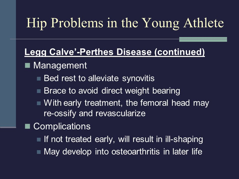 Hip Problems in the Young Athlete
