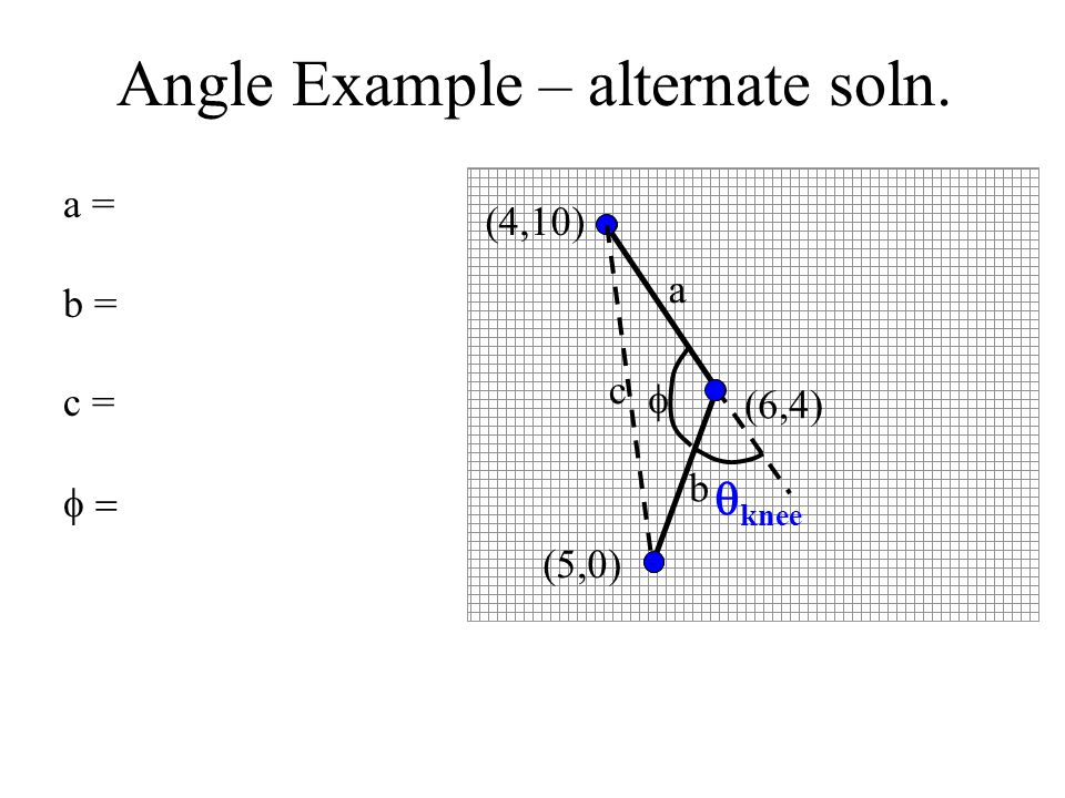 Angle Example – alternate soln.