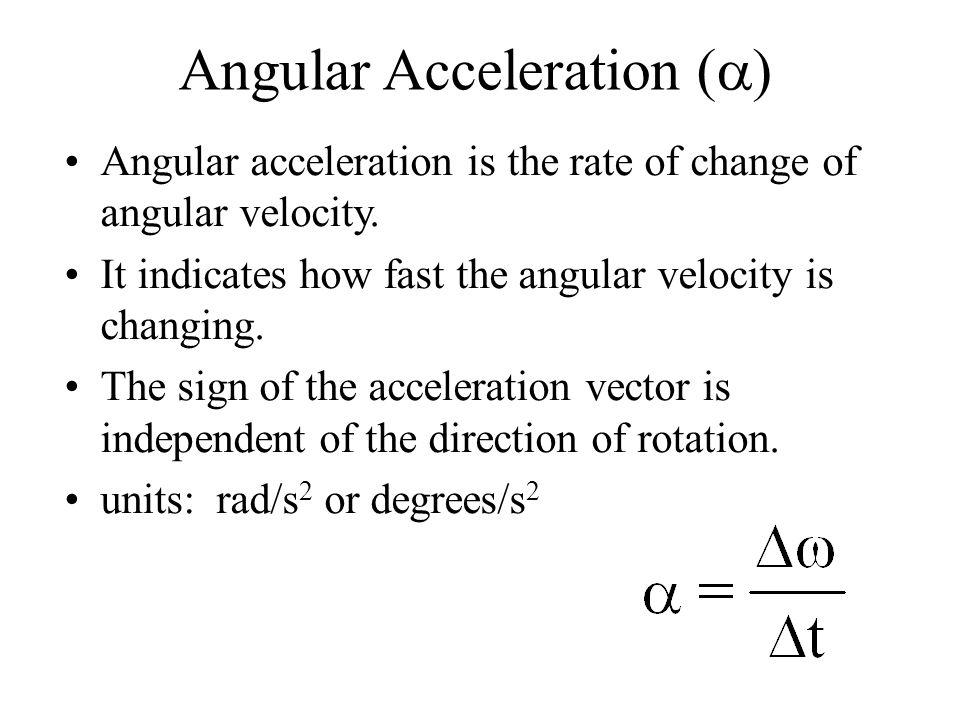 Angular Acceleration (a)