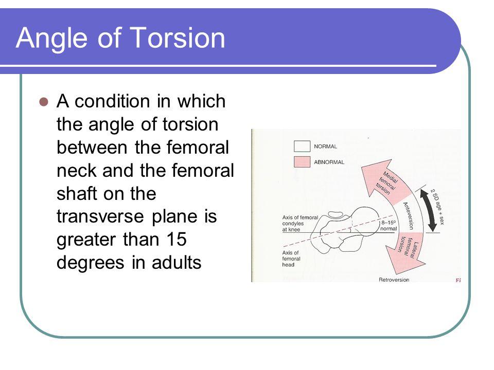 Angle of Torsion