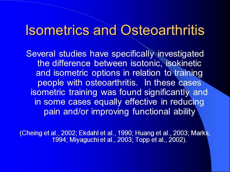 Isometrics and Osteoarthritis