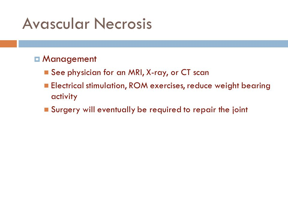 Avascular Necrosis Management
