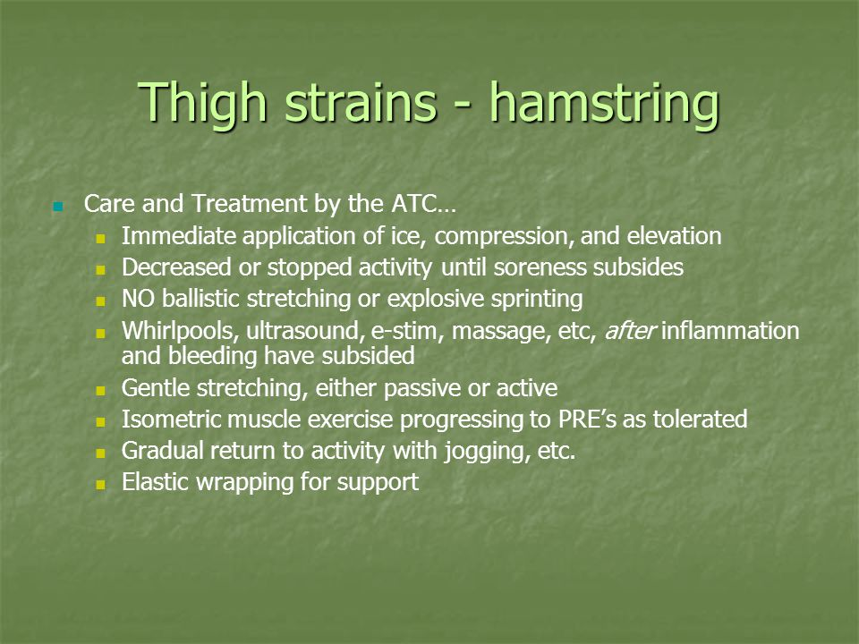 Thigh strains - hamstring