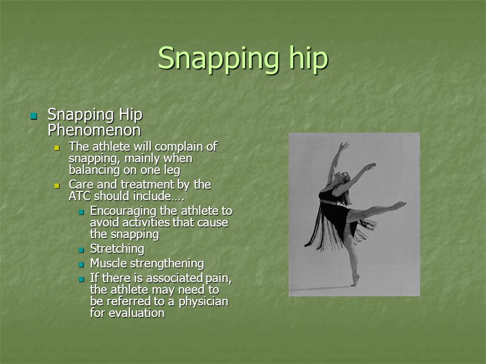 Snapping hip Snapping Hip Phenomenon