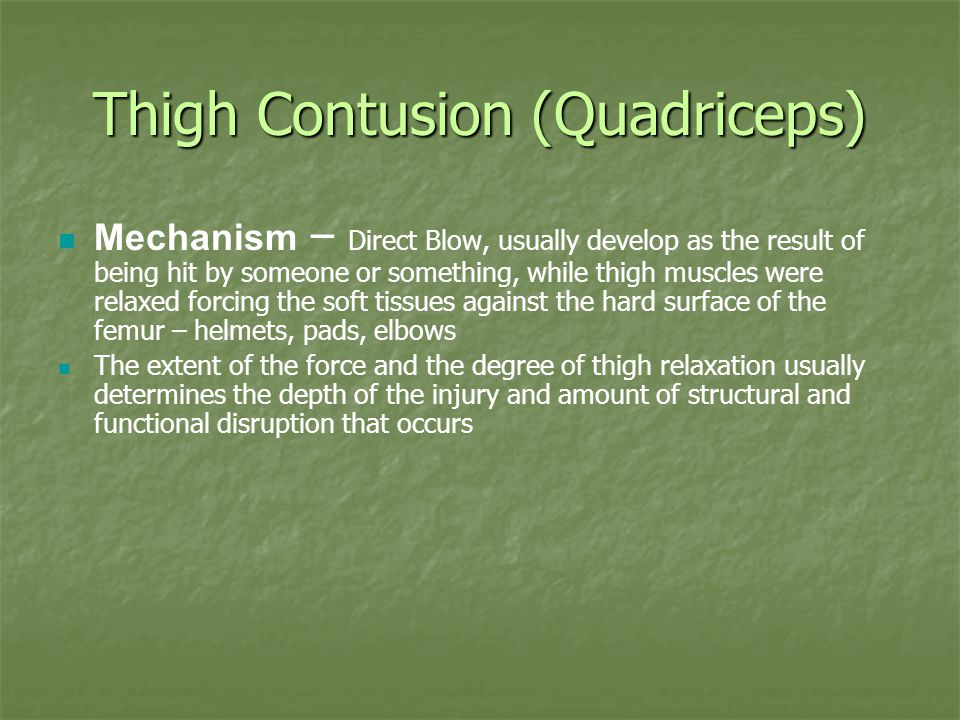 Thigh Contusion (Quadriceps)