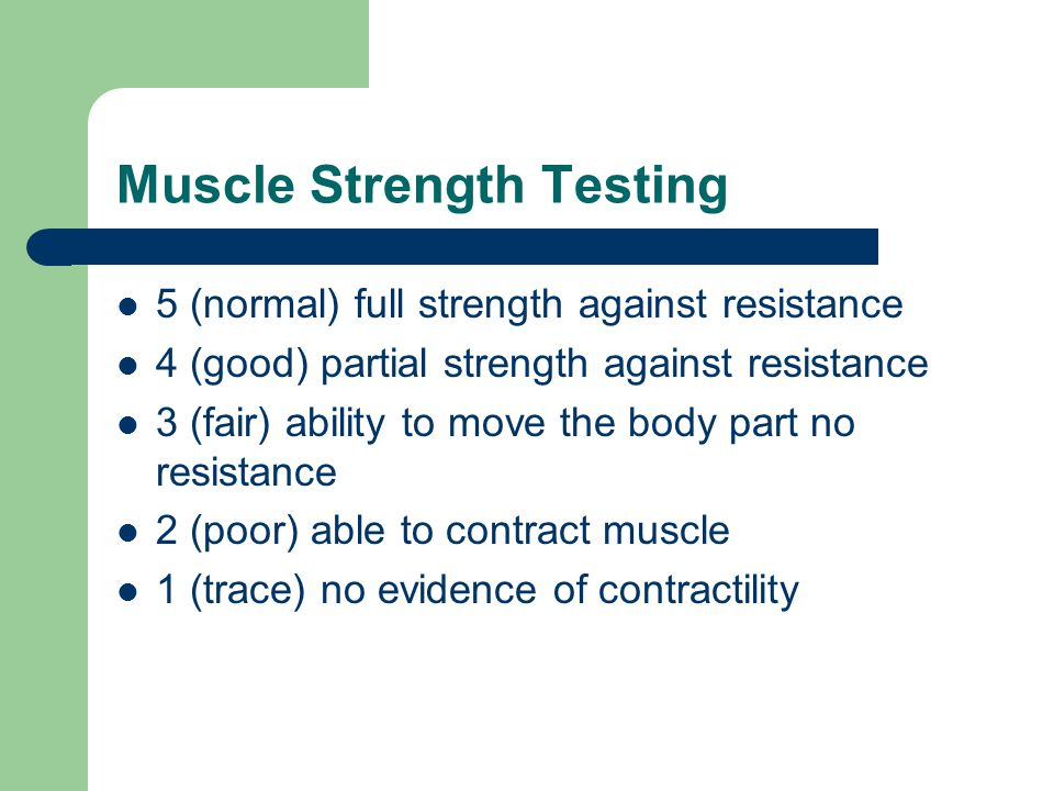 Muscle Strength Testing