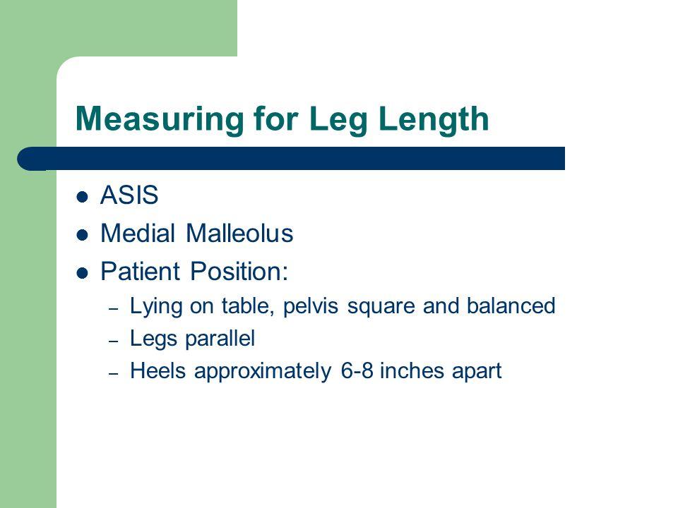 Measuring for Leg Length