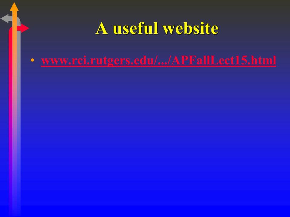 A useful website www.rci.rutgers.edu/.../APFallLect15.html