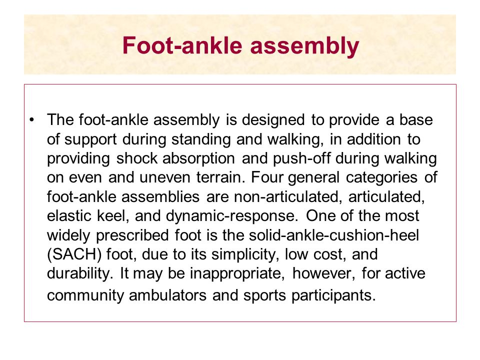 Foot-ankle assembly