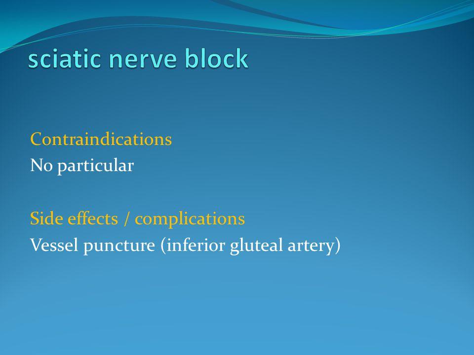 sciatic nerve block Contraindications No particular