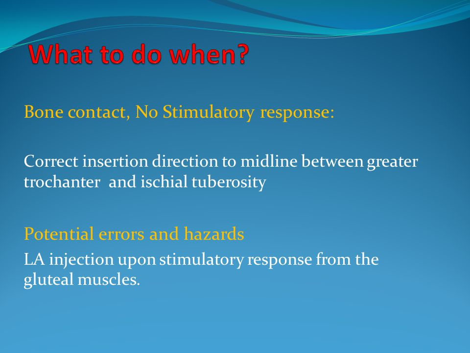 What to do when Bone contact, No Stimulatory response: