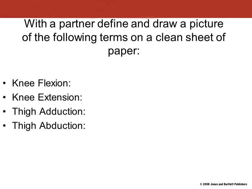 With a partner define and draw a picture of the following terms on a clean sheet of paper: