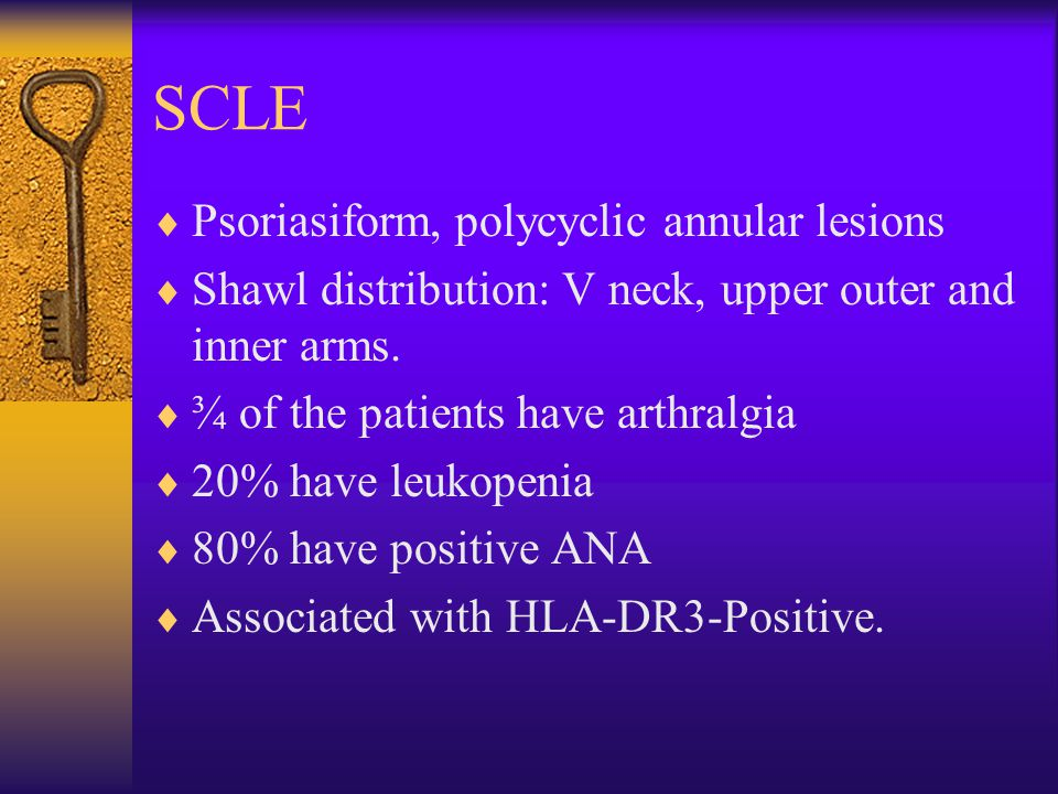 SCLE Psoriasiform, polycyclic annular lesions