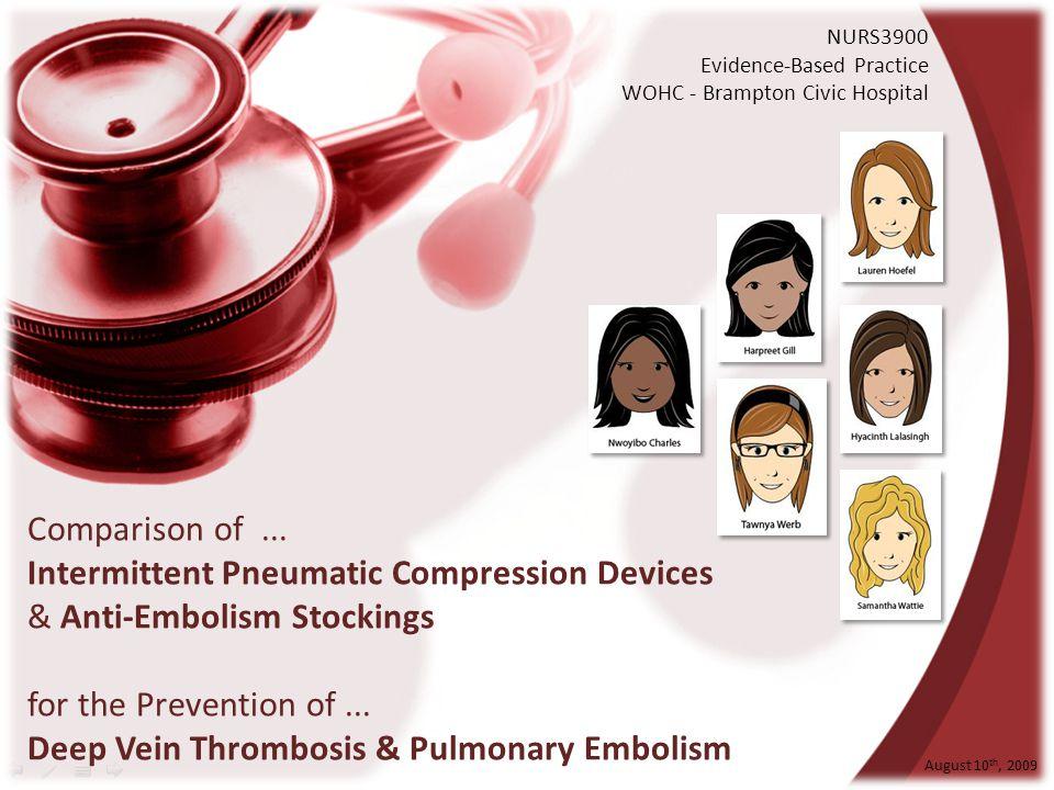 Comparison of ... Intermittent Pneumatic Compression Devices