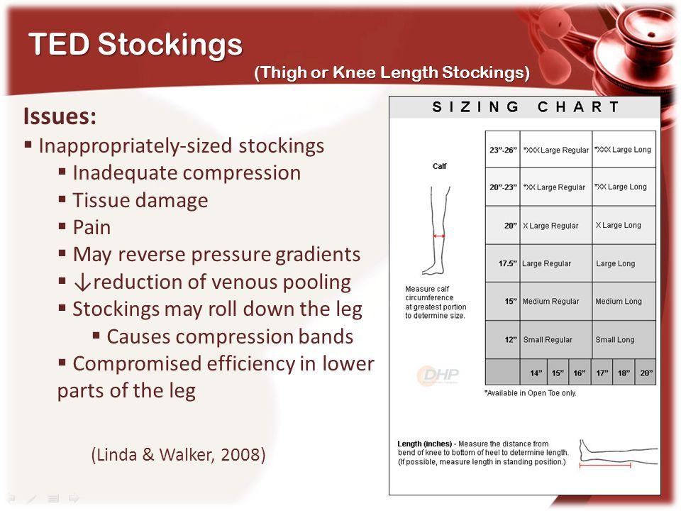 TED Stockings Issues: (Linda & Walker, 2008)