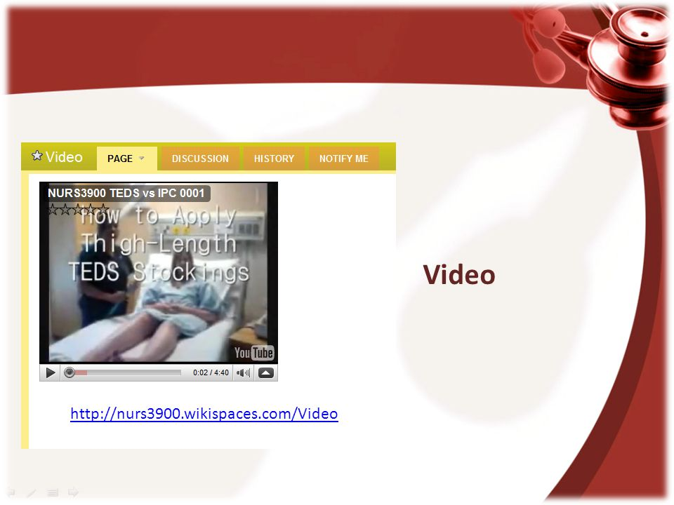 Video http://nurs3900.wikispaces.com/Video