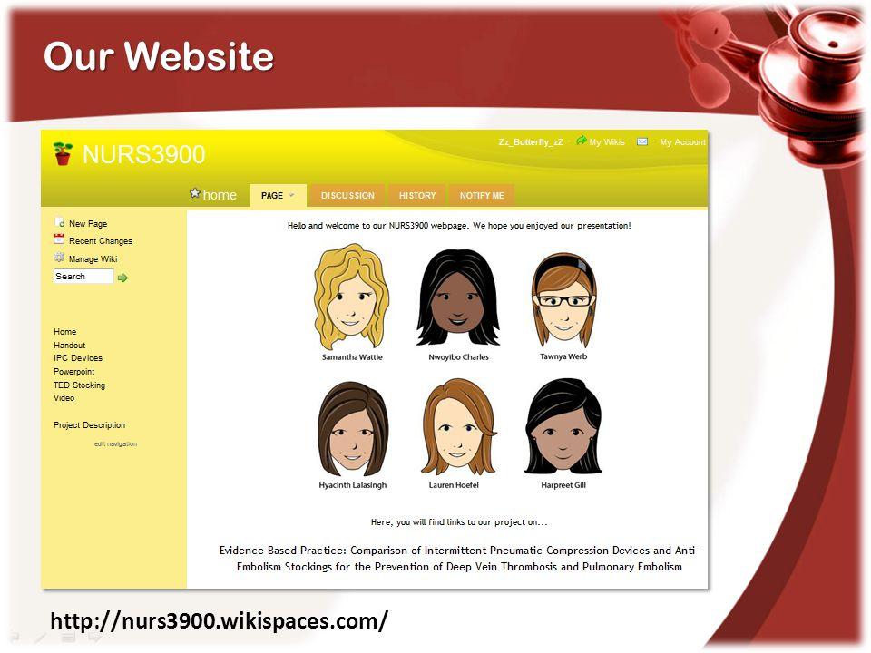 Our Website http://nurs3900.wikispaces.com/