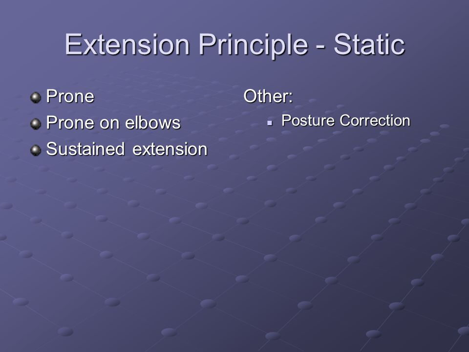 Extension Principle - Static