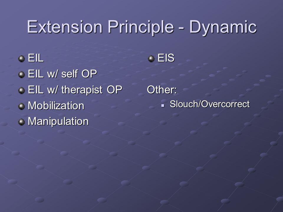 Extension Principle - Dynamic