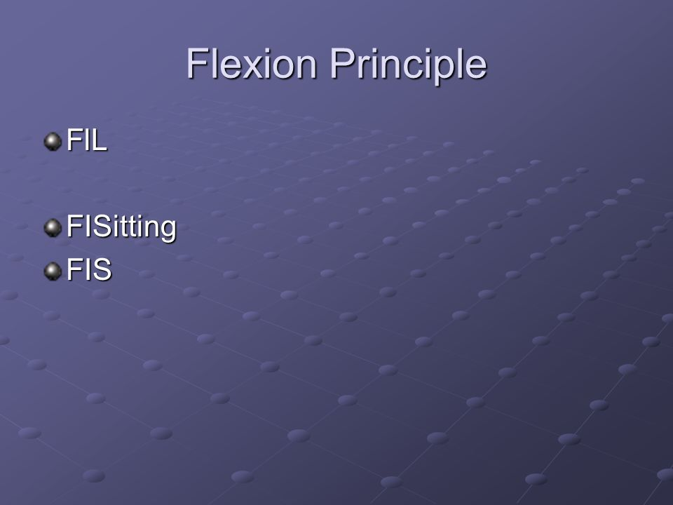 Flexion Principle FlL FISitting FIS