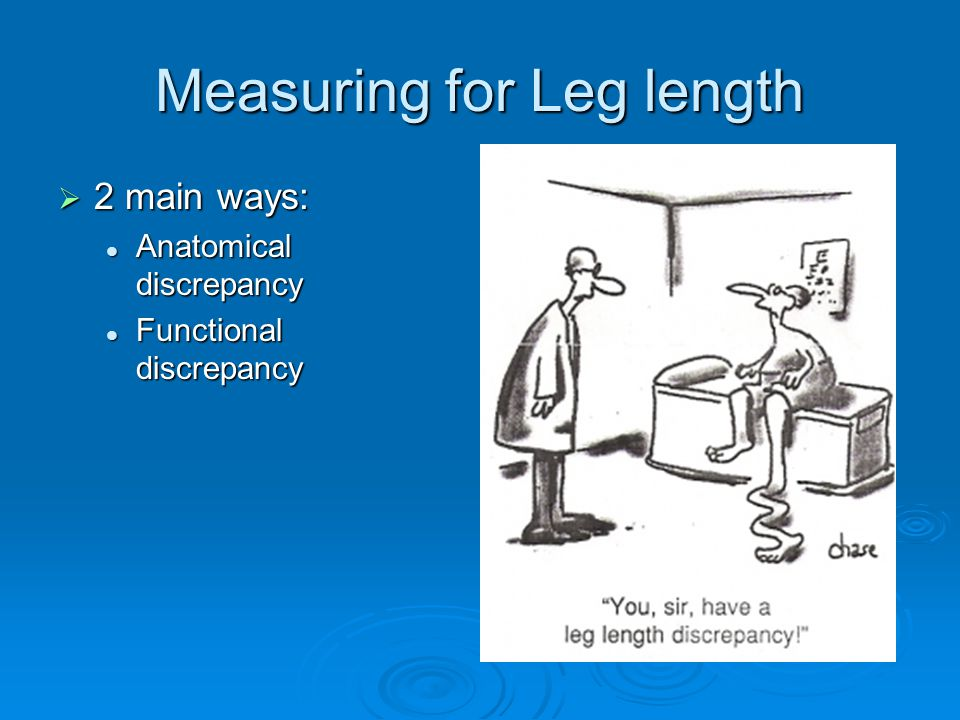Measuring for Leg length