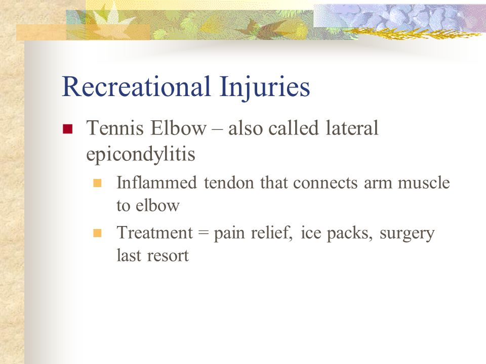 Recreational Injuries
