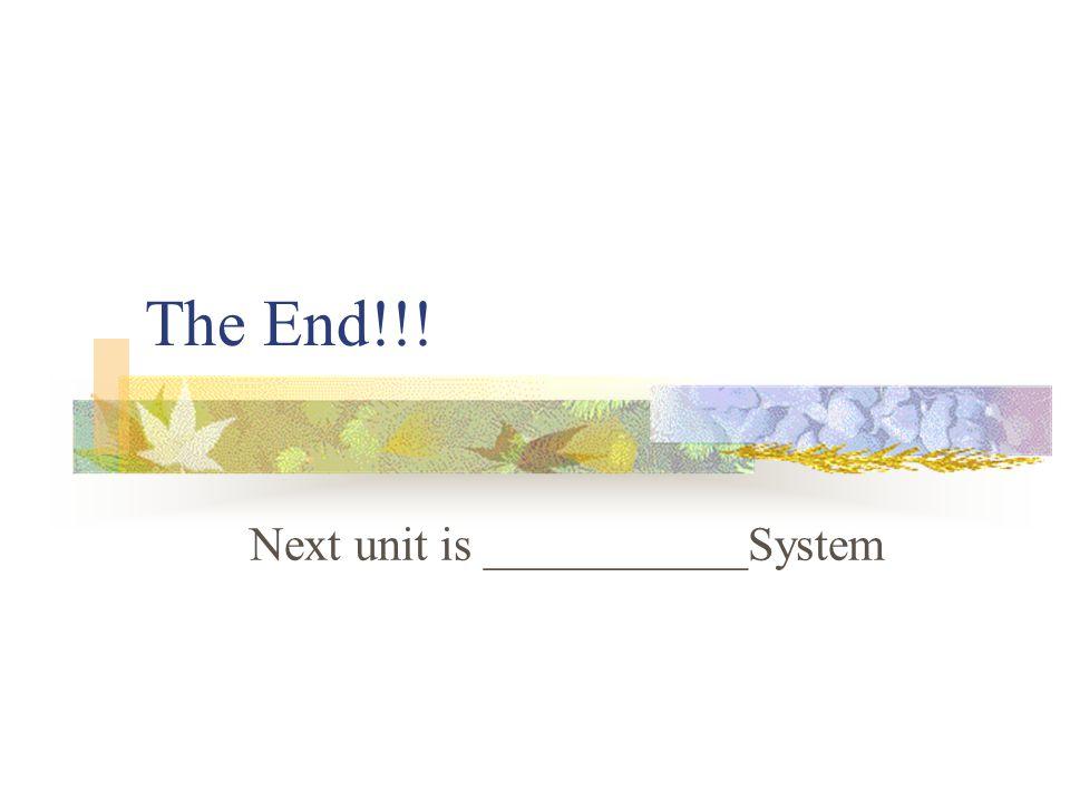 Next unit is ___________System