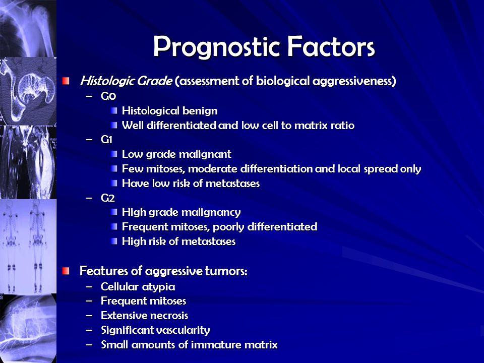 Prognostic Factors Histologic Grade (assessment of biological aggressiveness) G0 Histological benign.