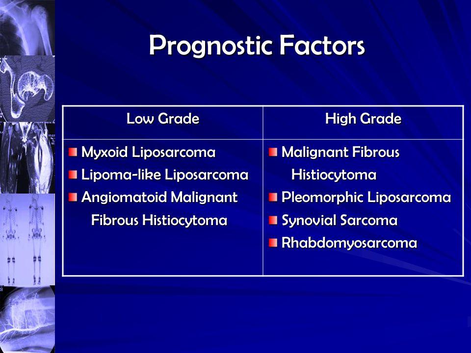 Prognostic Factors Low Grade High Grade Myxoid Liposarcoma
