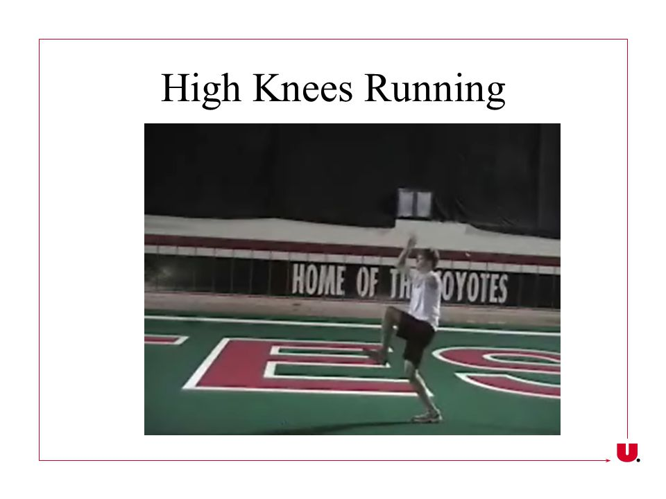 High Knees Running