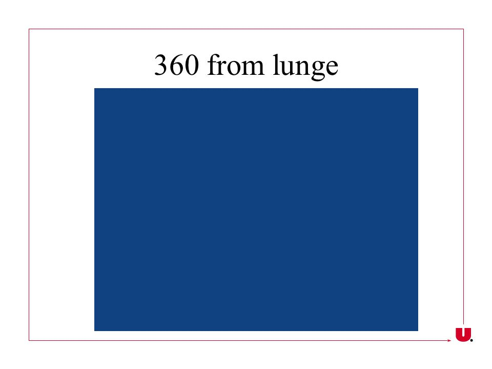 360 from lunge