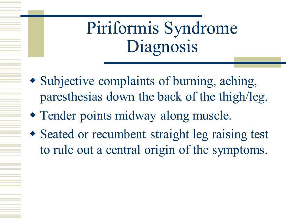 Piriformis Syndrome Diagnosis