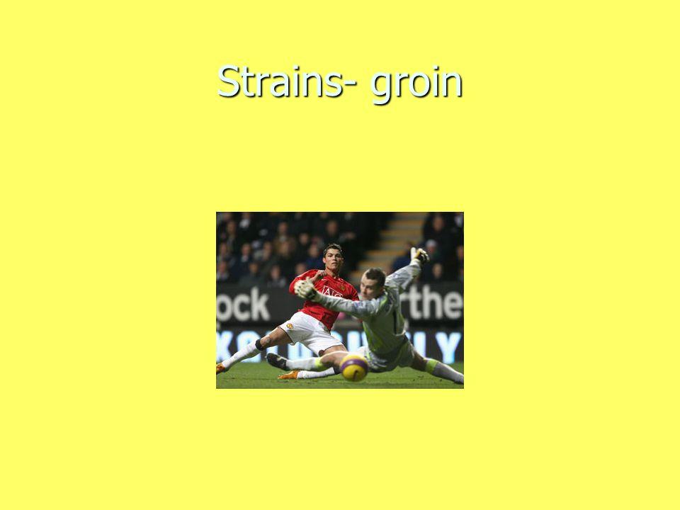 Strains- groin