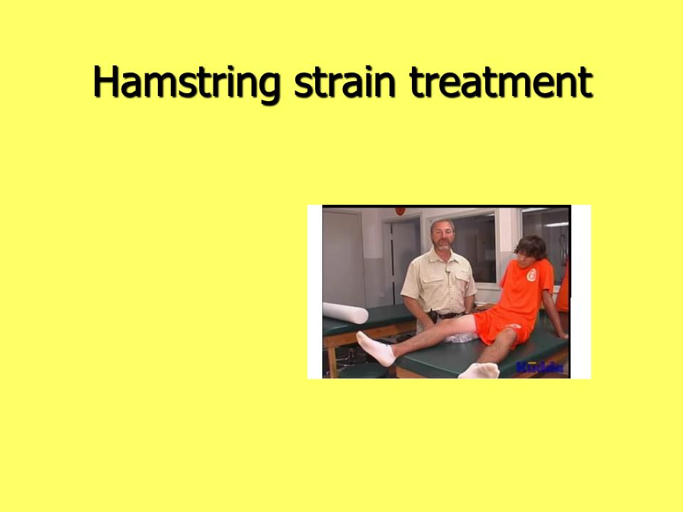 Hamstring strain treatment
