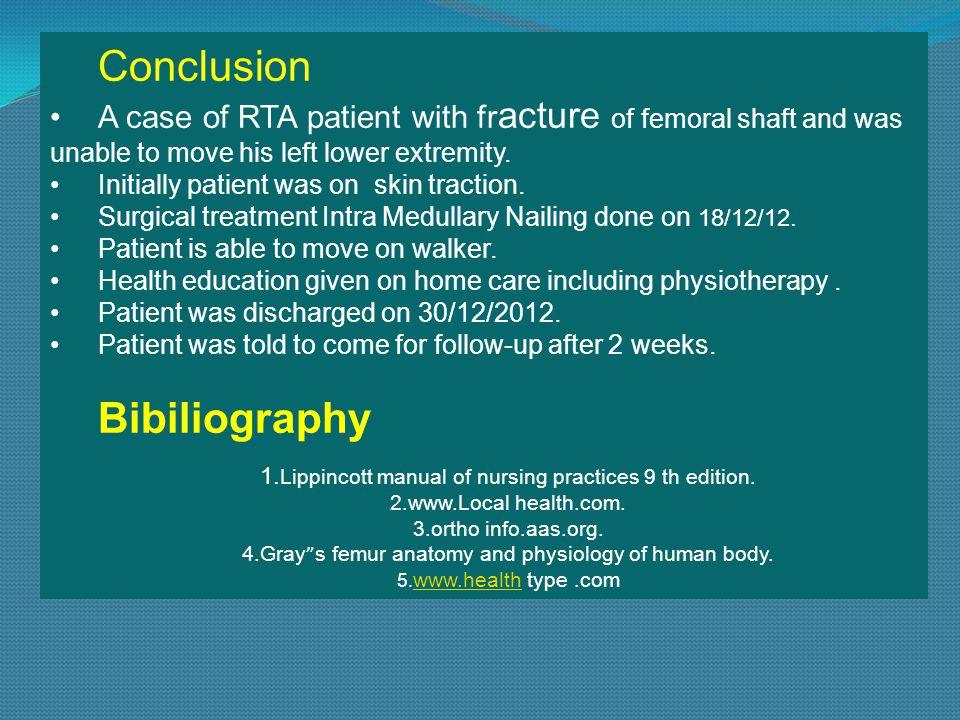 Conclusion Bibiliography