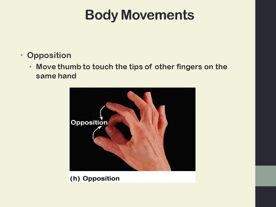 Body Movements Opposition