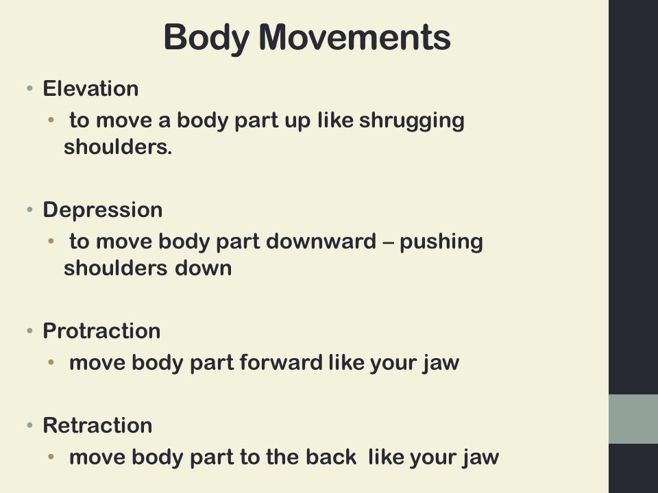 Body Movements Elevation